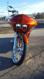 Orange With Black Silver Graphics 2016 Road Glide