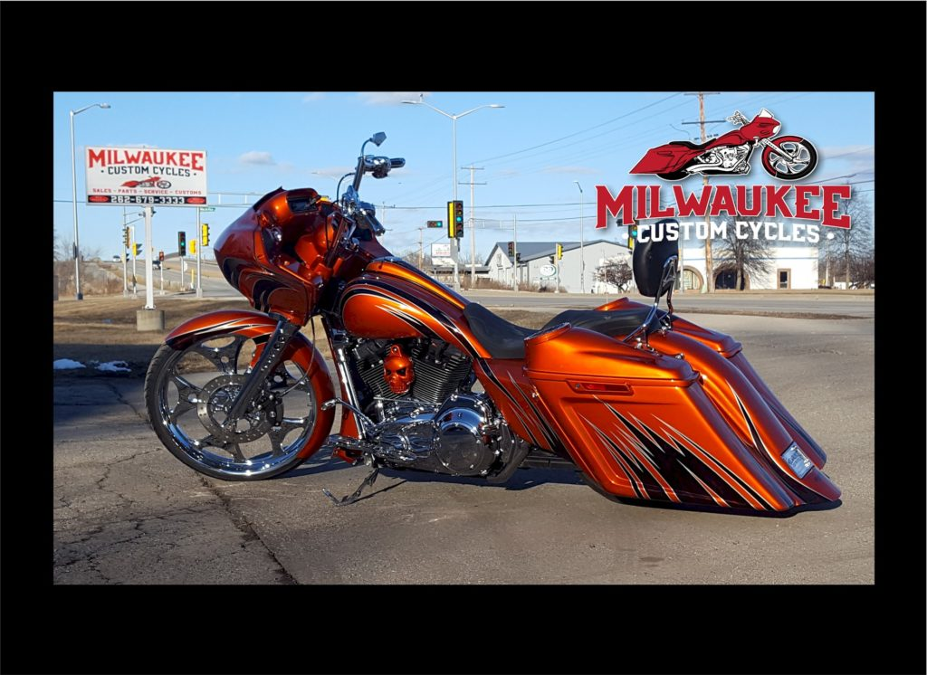 Harley Davidson Bike Covers >> ORANGE WITH BLACK/SILVER GRAPHICS – 2016 ROAD GLIDE SPECIAL | Milwaukee Custom Cycles